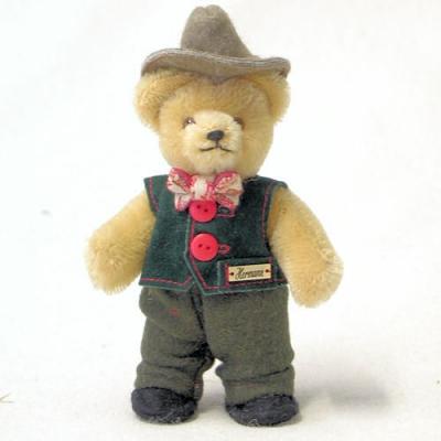 Miniatur Steh-Bär Bavarian Boy Teddybär von Hermann-Coburg