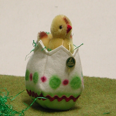 Little Chicky in the Easter Egg 7 cm  by Hermann-Coburg
