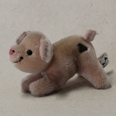 "Mohair little lucky pig ""Piggi"") 12 cm Teddy Bear by Hermann-Coburg"