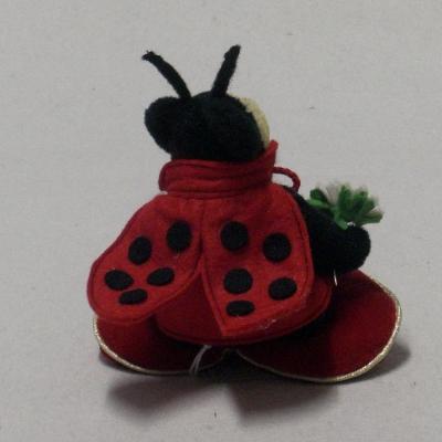 Lucky Ladybird sitting on a Heart 15 cm Teddy Bear by Hermann-Coburg