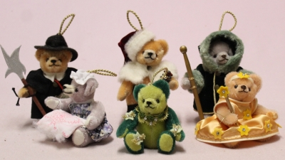 Ornament Set 2020 13 cm Teddy Bear by Hermann-Coburg