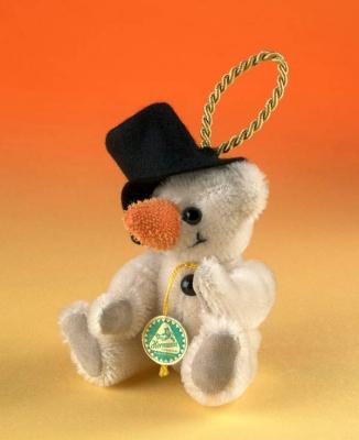 Schneemann Teddy Bear by Hermann-Coburg