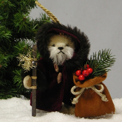 Old German Weihnachtsmann Teddy Bear by Hermann-Coburg