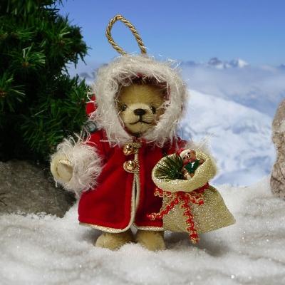 Santas Joy Teddy Bear by Hermann-Coburg