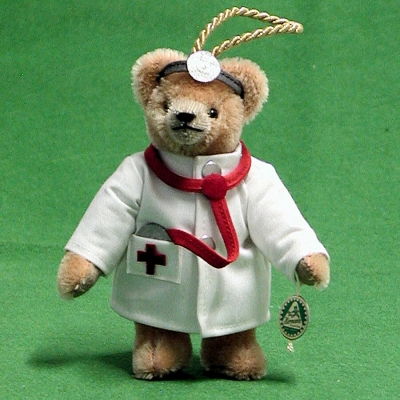 Doctor of Medicine Teddy 14 cm Teddy Bear by Hermann-Coburg