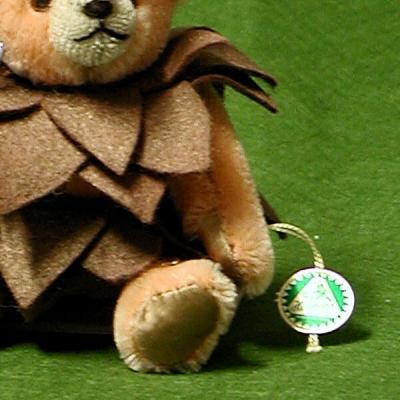 Kleiner Tannenzapfen 13 cm Teddybär von Hermann-Coburg