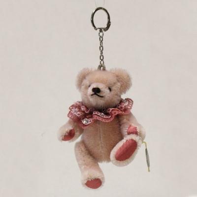 Taschen-Anhänger hell-rosa 13 cm Teddybär von Hermann-Coburg