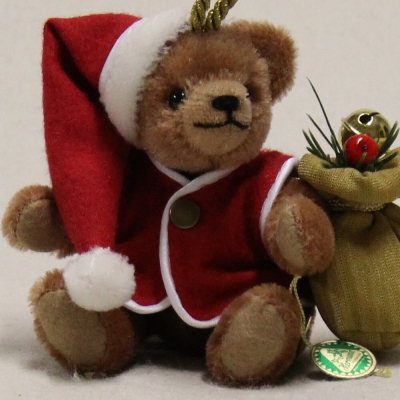 Here comes Santa Claus 13 cm Teddy Bear by Hermann-Coburg