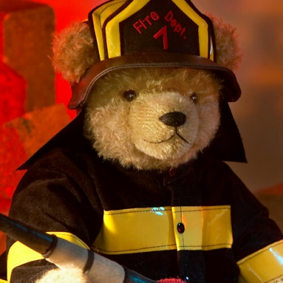 Firefighter  Teddy Bear by Hermann-Coburg