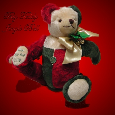 Big Teddy Jingle Bell 50 cm Teddy Bear by Hermann-Coburg
