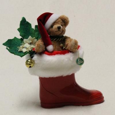 Kleiner Nikolaus Stiefel 16 cm Teddybär von Hermann-Coburg