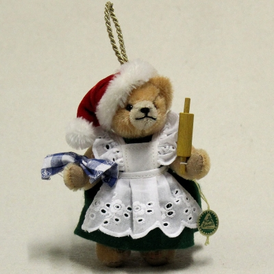 In the Christmas Bakery with Mrs. Santa 13 cm Teddy Bear by Hermann-Coburg