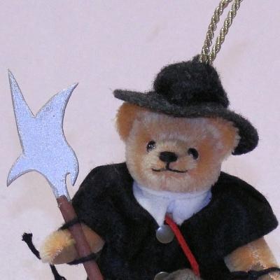 Little Night Watchmann 13 cm Teddy Bear by Hermann-Coburg