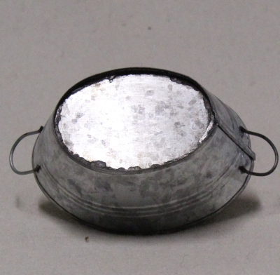 Wanne oval 10,5 cm x 8 cm  x 4,5 cm (Metall)