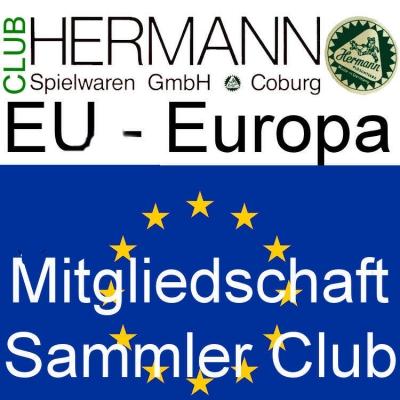 HERMANN Coburg Sammler Club Mitgliedschaft EU-Europa - Clubjahr 2018