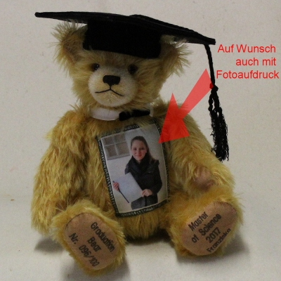 Graduation Individual Bear Teddy Bear by Hermann-Coburg