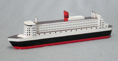 Modell: Kreuzfahrtschiff Holz (Luxusliner) 26 x 4,5 x 8 cm