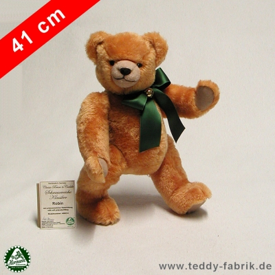 Teddybär Robin 41 cm schmuseweiche Klassiker