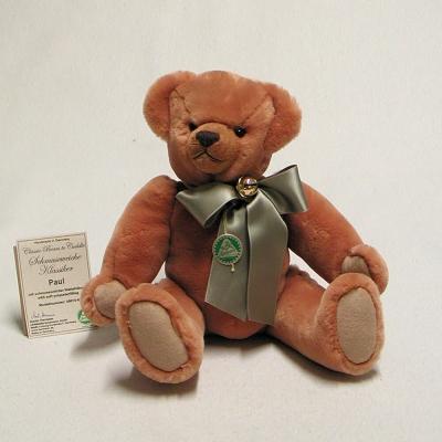 Teddybär Bordeaux 36 cm schmuseweiche Klassiker