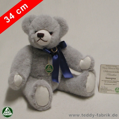 Teddybär Georgina 34 cm schmuseweiche Klassiker