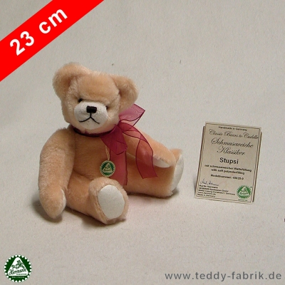 Teddybear Stupsi 23 cm 9 inch Classic Bears to Cuddle