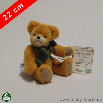Teddybear Felix 22 cm 8,5 inch Classic Bears to Cuddle