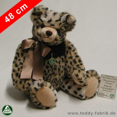 Teddybär King Leo 48 cmgroßer schmuseweicher Klassiker