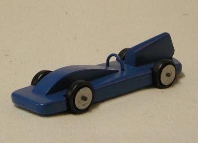 Blauer Rennwagen, nachempfunden dem Blue Bird