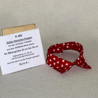 Süßer Herzchen-Kragen für den verliebten Teddybär siehe Details in der Produkterklärung oben für alle Daten in  cm Teddy Bear by Hermann-Coburg