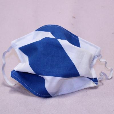 Wiederverwendbare Mund- und Nasen-Behelfsmaske Bayern-Raute weiß-blau  doppellagig Gott mit dir, du Land der Bayern