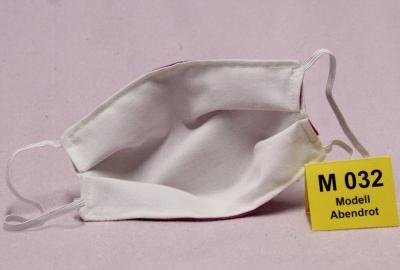 Wiederverwendbare Mund- und Nasen-Maske (Alltagsmaske) Abendrot  doppellagig mit verstellbaren Ohrschlaufen