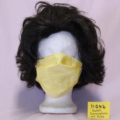 Wiederverwendbare Mund- und Nasen Behelfsmaske (Alltagsmaske) 2-lagig Modell Sonnenschei mit Hygiene-Vlies