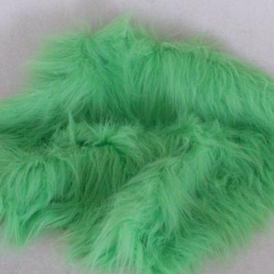 Vintage langfloriger Haarplüsch hell-grün 40 x 40 cm