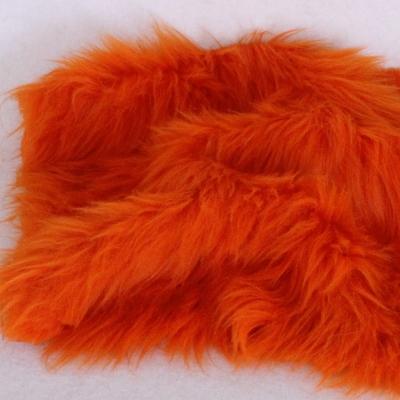 Vintage langfloriger Haarplüsch Flor: 90 mm orange 40 x 40 cm