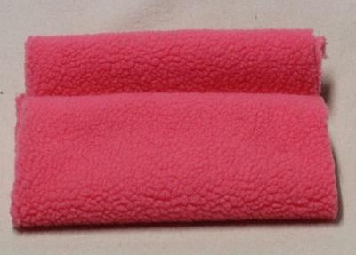 Vintage Teddy-Plüsch Pink – Lammoptik fein-nopping 70 x 70 cm