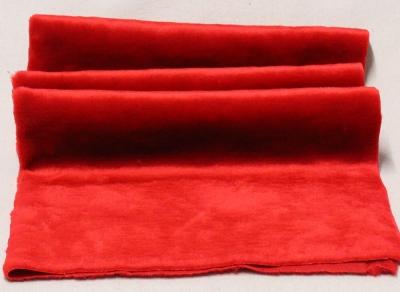 Vintage Teddy-Plüsch rot-glänzend 70 x 70 cm