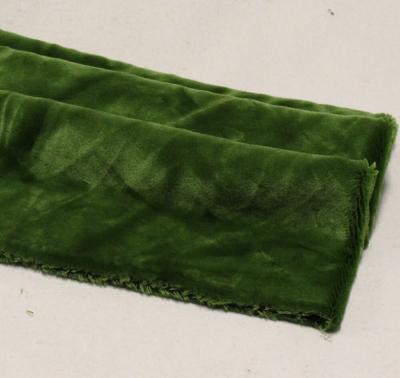 Vintage Teddy-Plüsch oliv-grün 70 x 70 cm