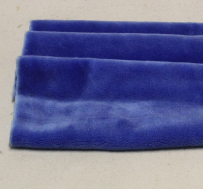 Vintage Teddy-Plüsch blau-violett 70 x 70 cm