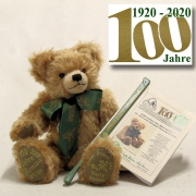 Time change - Values remain Jubilee Bear 1920 - 2020 100 year of am eventful company history 38 cm Teddy Bear by Hermann-Coburg