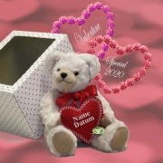 Valentine Special with individuel embroidered heart 31 cm Teddy Bear