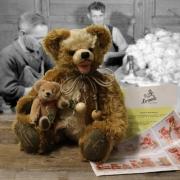 25. Sonneberger Museumsbär 2018 36 cm Teddybär von Hermann-Coburg