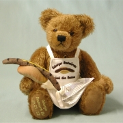 Bratwurstbär 37 cm Teddy Bear by Hermann-Coburg