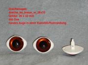 Drachen Kunststoff Augen mit Öse 26x33 mm