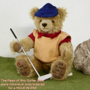 Golfer Individual Bär Teddy Bear by Hermann-Coburg
