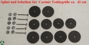 Splint und Scheiben Set Casimir Teddygröße ca. 42 cm