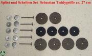 Splint und Scheiben Set Sebastian Teddygröße ca. 27 cm