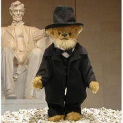 Abraham Lincoln Teddy Bear by Hermann-Coburg