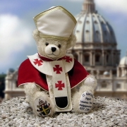 Pope Johannes Paul II Teddy Bear by Hermann-Coburg