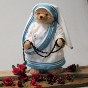 Mutter Teresa – Mother Teresa 36 cm Mohair  Teddybär von Hermann-Coburg