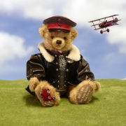 The Red Baron Teddy Bear by Hermann-Coburg